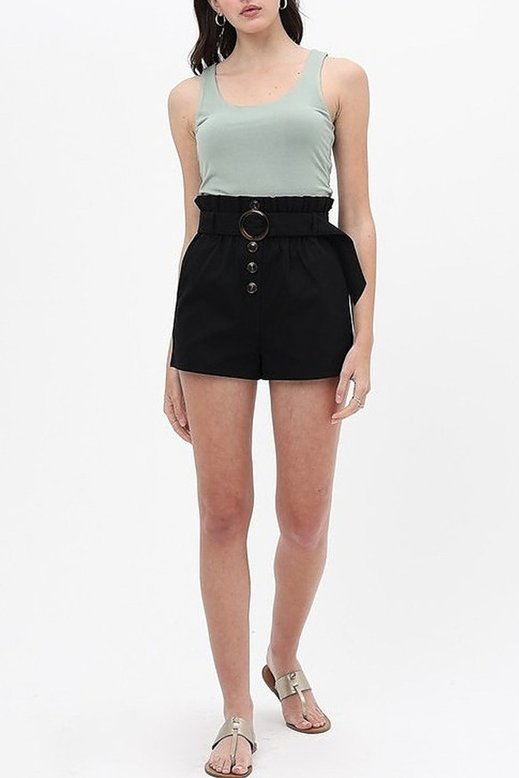 Love Tree  Round Buckle Shorts - Side Cropped Image