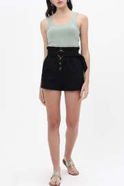 Love Tree  Round Buckle Shorts - Side cropped