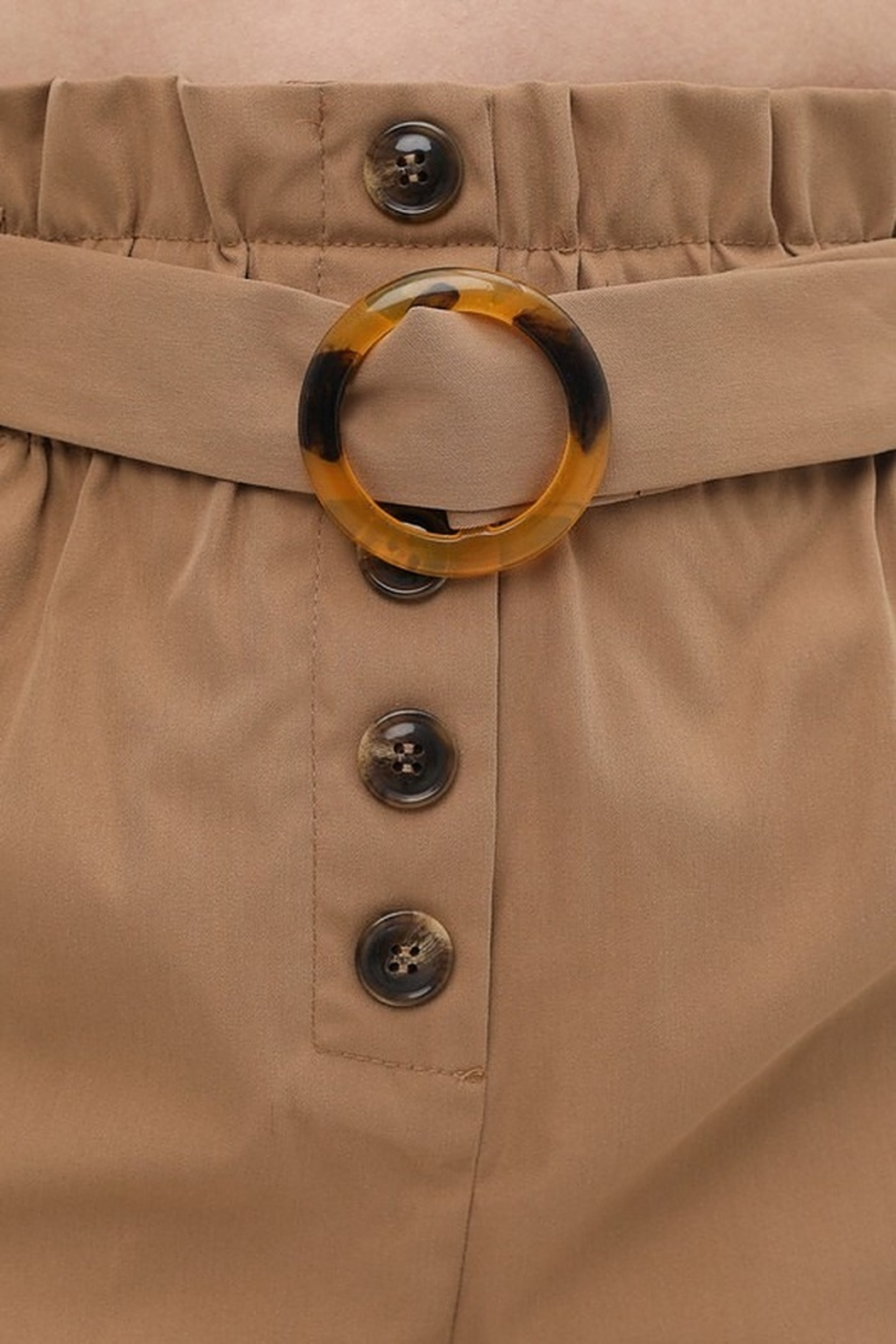 Love Tree  Round Buckle Shorts - Back Cropped Image