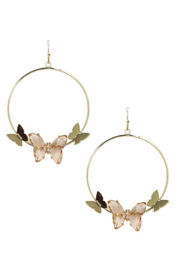 Maison A Round Butterfly Dangle Earrings - Product Mini Image