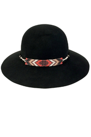 San Diego Hat Company Round Crown Floppy W/Bead Trim - Front cropped