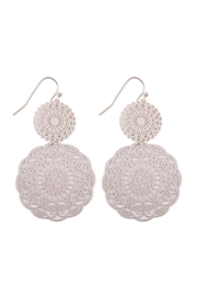 Riah Fashion Round-Filigree Statement Earrings - Product Mini Image