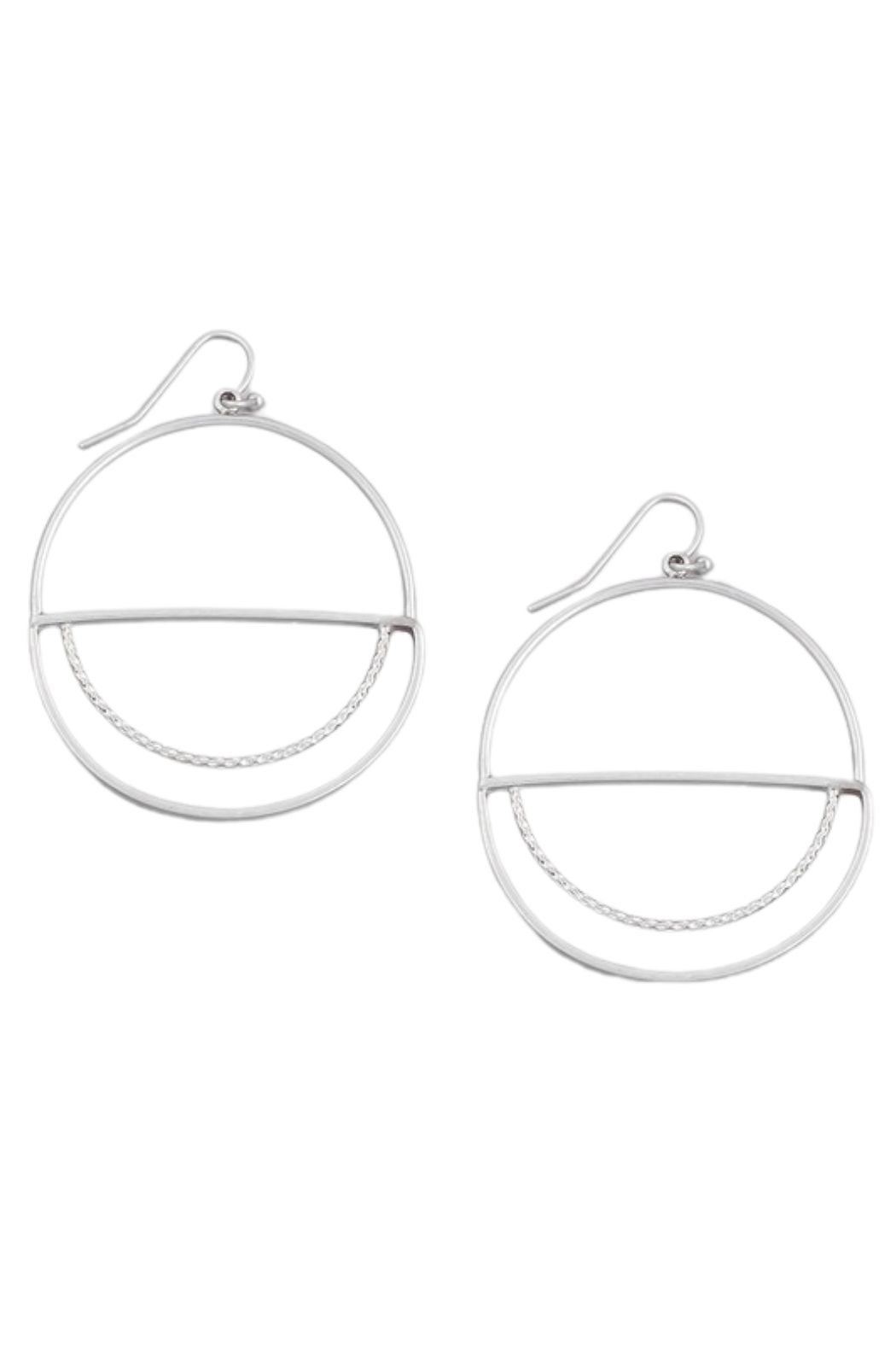 Fame Accessories Round Flat Drop Earrings - Front Cropped Image