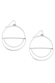 Fame Accessories Round Flat Drop Earrings - Front cropped