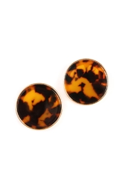 Riah Fashion Round-Framed Acetate Earrings - Product Mini Image