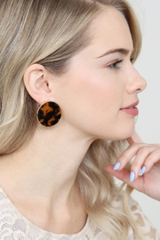Riah Fashion Round-Framed Acetate Earrings - Side cropped