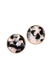 Riah Fashion Round-Framed Acetate Earrings - Front cropped