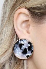 Riah Fashion Round-Framed Acetate Earrings - Back cropped