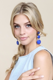 Riah Fashion Round-Gem Cut Earrings - Product Mini Image
