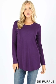 Zenana Outfitters Round Hem Top - Product Mini Image