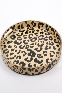 Shoptiques Product: Round Leopard Tray