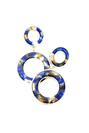 Lets Accessorize Round Link Earrings - Product Mini Image