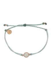 Pura Vida ROUND MOONSTONE BRACELET-SMOKE BLUE - Product Mini Image