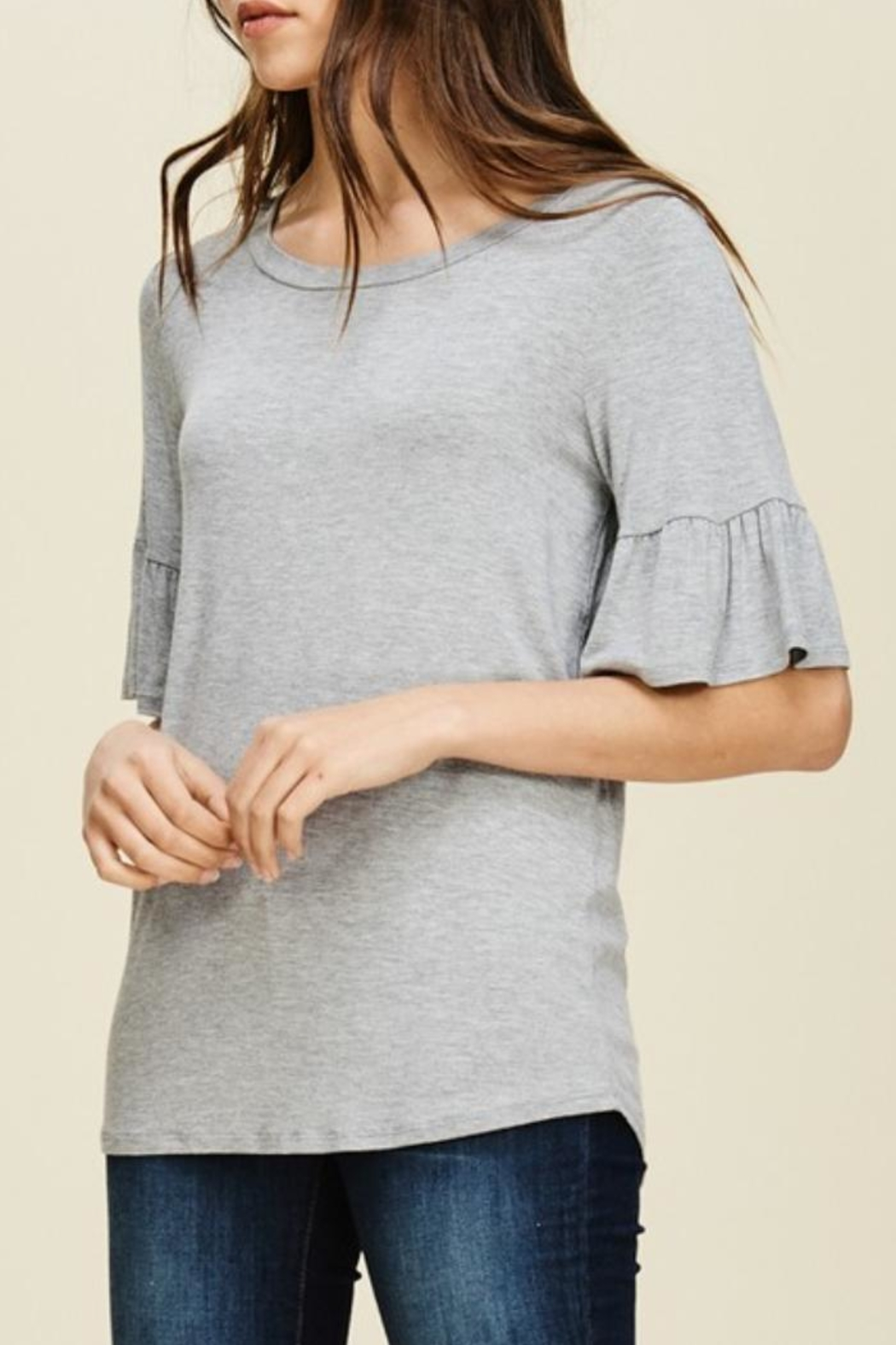 annabelle Round-Neck Bell Sleeve - Front Full Image