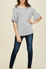 annabelle Round-Neck Bell Sleeve - Side cropped