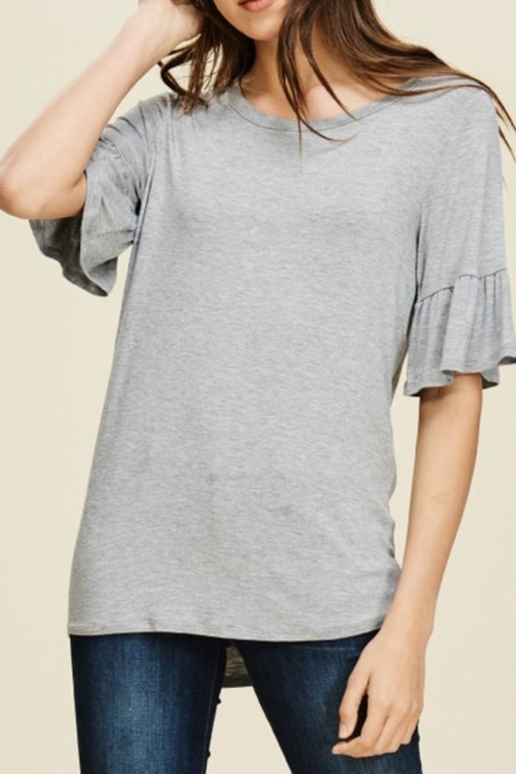 annabelle Round-Neck Bell Sleeve - Main Image