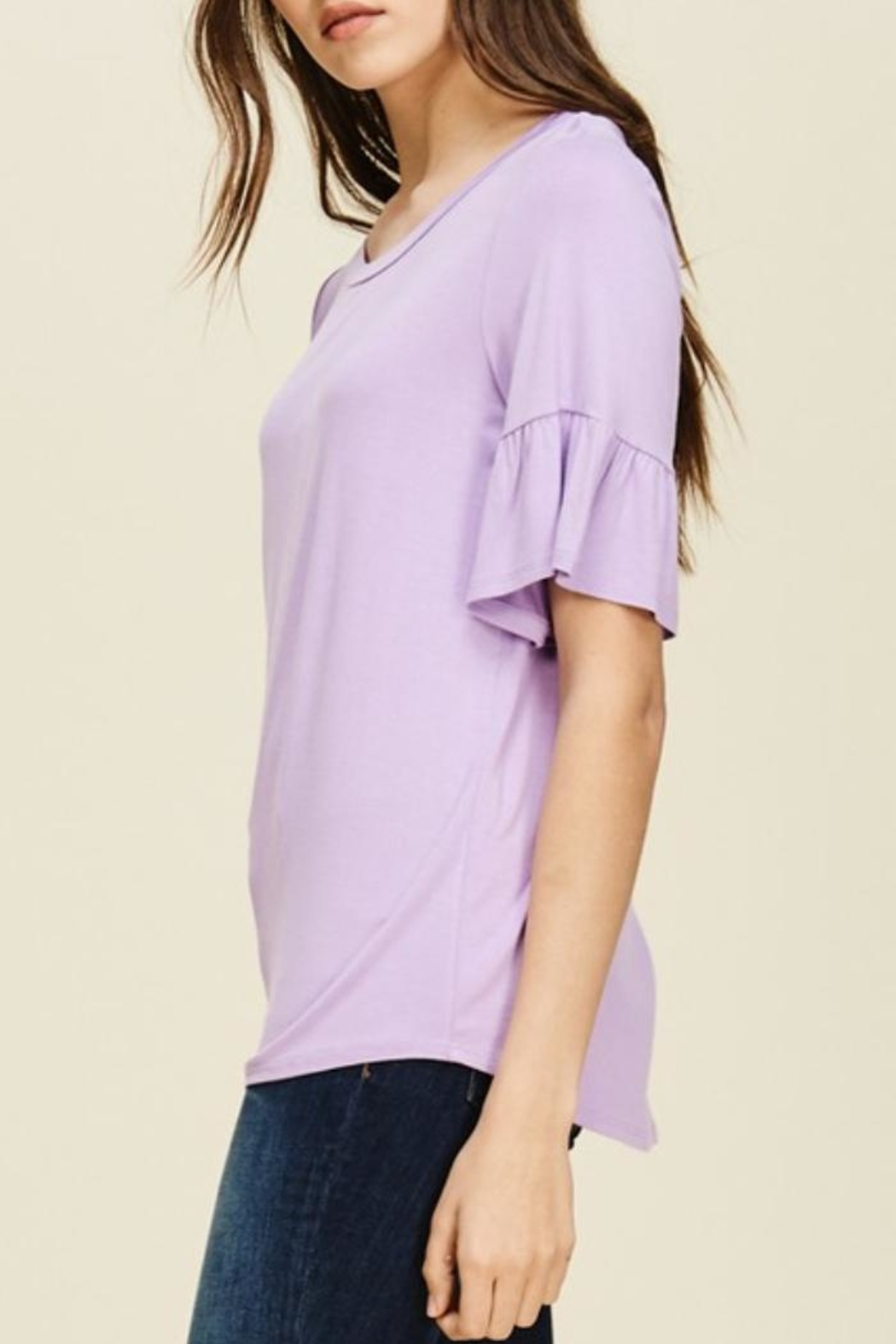 annabelle Round-Neck Bell Sleeve - Side Cropped Image