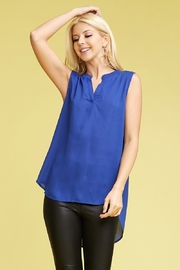 Ninexis ROUND NECK HIGH LOW SLEEVELESS BLOUSE - Product Mini Image