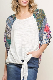 Umgee USA Round Neck Knit-Top - Product Mini Image