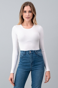 Hashttag ROUND NECK LONG SLEEVE BODYSUIT - Product List Image