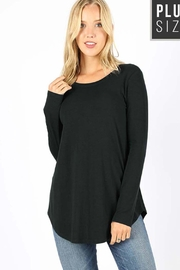 Zenana Outfitters Round Neck Ls-Top - Product Mini Image