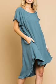 Umgee  Round Neck Pocket Dress - Product Mini Image