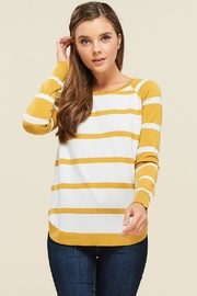 Staccato Round-Neck Pullover Sweater - Product Mini Image