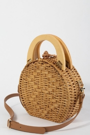 Style Trolley Round Rattan Purse - Front full body