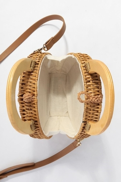 Style Trolley Round Rattan Purse - Alternate List Image