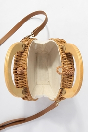 Style Trolley Round Rattan Purse - Back cropped