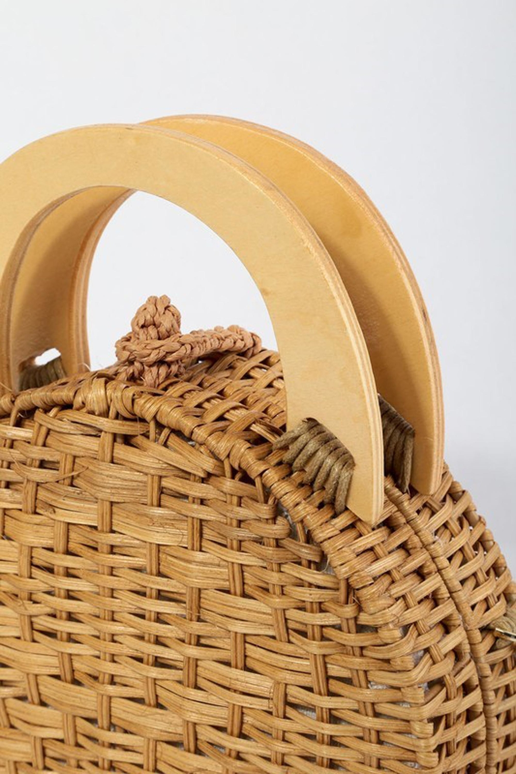 d81a3531cfc67 Style Trolley Round Rattan Purse from Minneapolis by StyleTrolley ...