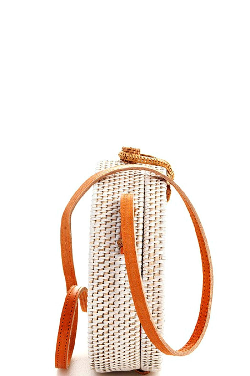 AGP Apparel Round Rattan-Straw Bag - Front Full Image