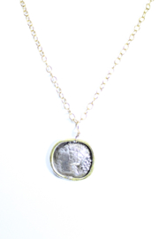 The Birds Nest ROUND ROMAN GIRL NECKLACE - 9 INCH CHAIN - Product Mini Image