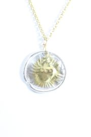 The Birds Nest ROUND SACRED HEART NECKLACE - 9 INCH CHAIN - Front full body