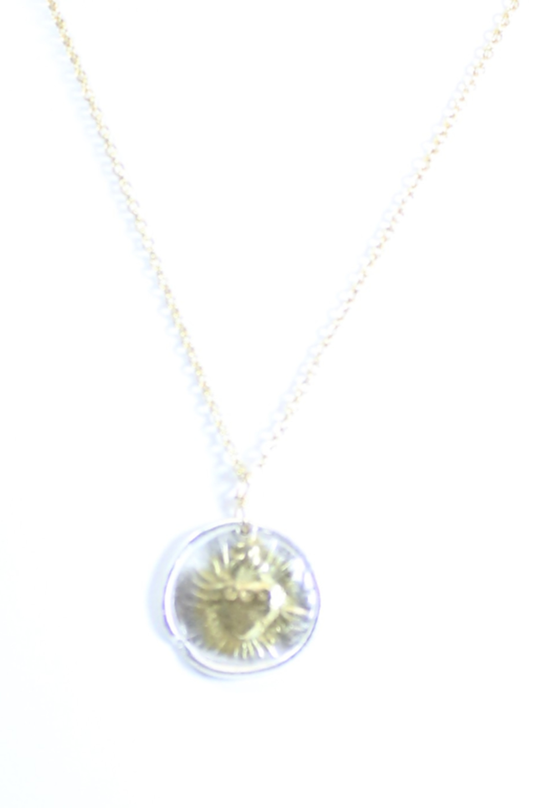 The Birds Nest ROUND SACRED HEART NECKLACE - 9 INCH CHAIN - Main Image