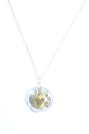 The Birds Nest ROUND SACRED HEART NECKLACE - 9 INCH CHAIN - Product Mini Image