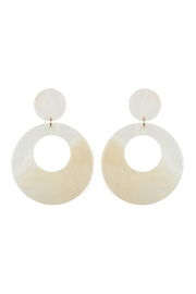Riah Fashion Round-Smoked Acetate-Dangle-Earrings - Product Mini Image