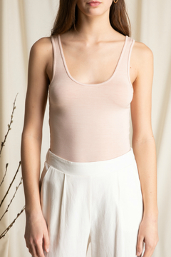 Grade & Gather  ROUND SQUARED NECK TANK TOP - Product List Image