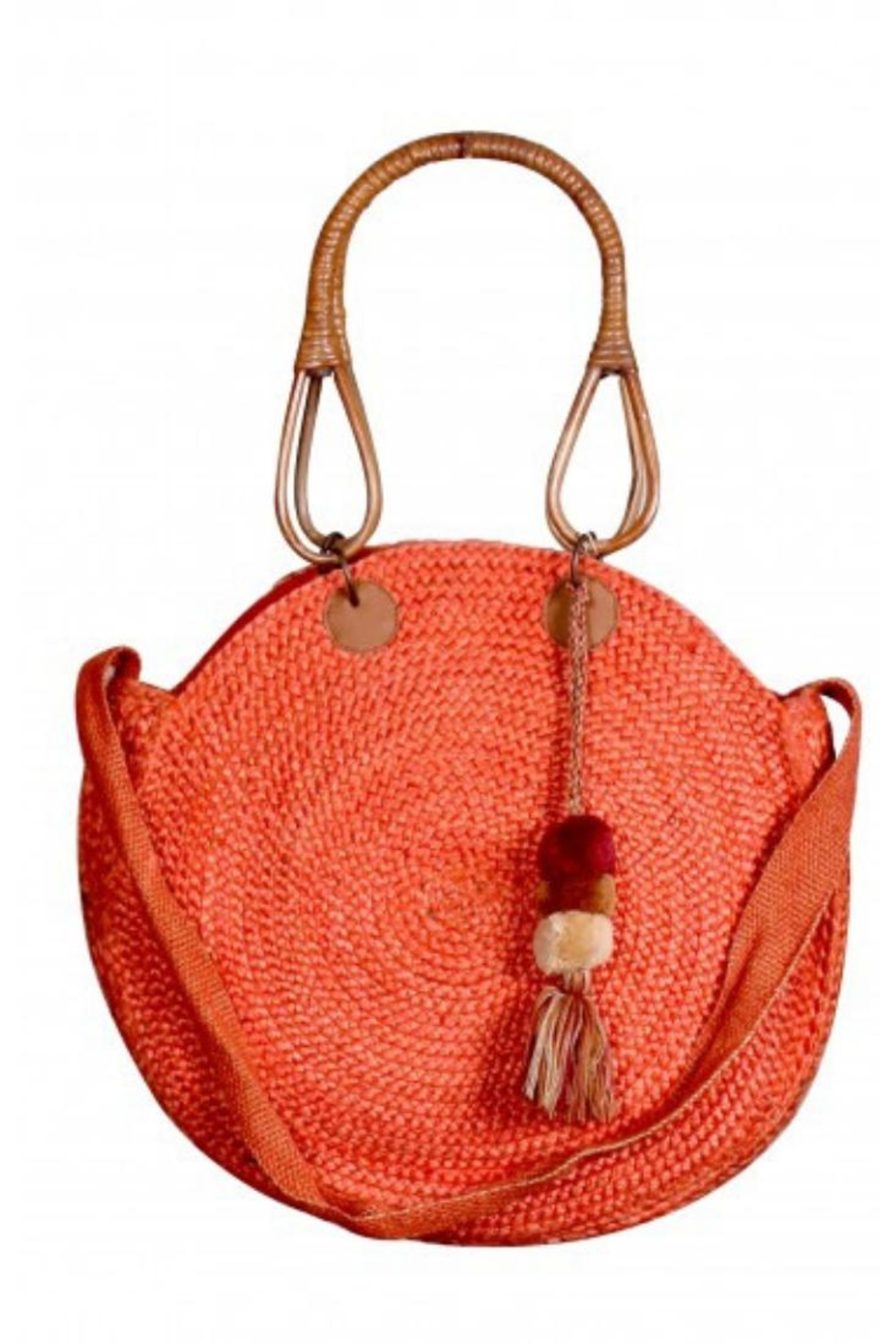 America & Beyond Round Straw Hobo - Front Cropped Image