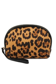 Riah Fashion Round-Top Leopard-Pattern Cosmetic-Bag - Product Mini Image