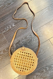 Allie & Chica Round Wicker Box Handbag - Product Mini Image