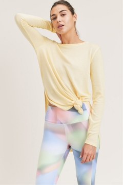 Mono B Rounded Hem Pullover w Side Slits - Product List Image