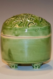 Iris Grundler Pottery Rounded Jewelry Box - Front cropped