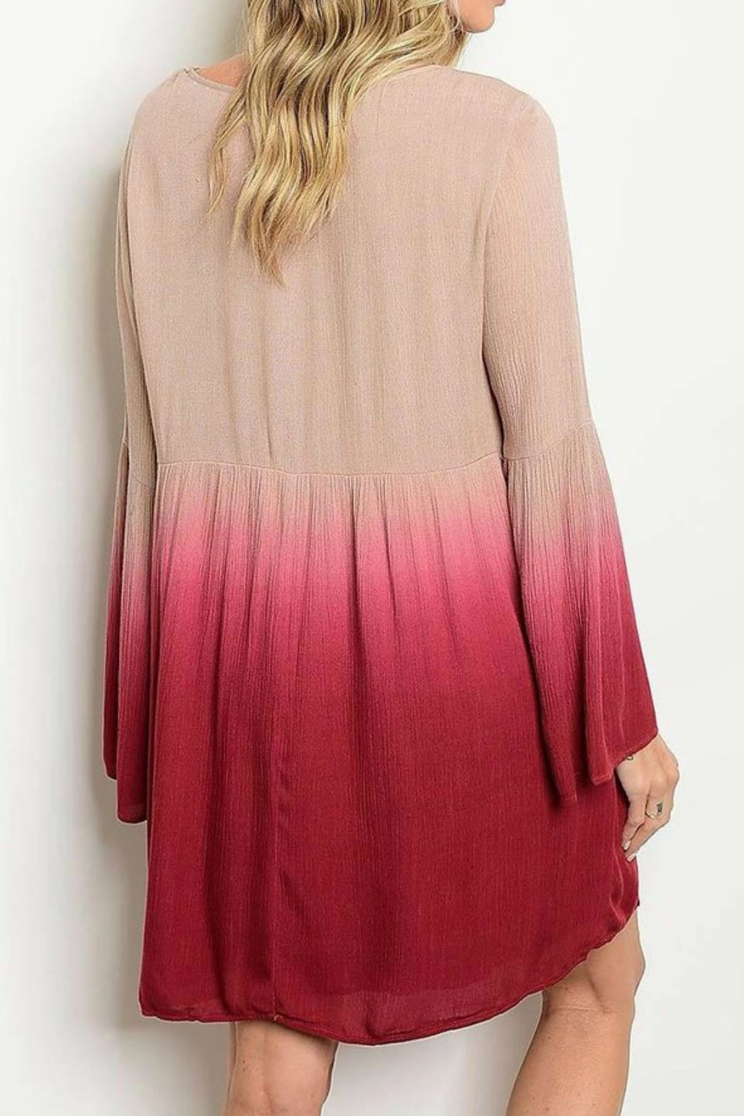 Entro Dip-Dye Bell Sleeve - Front Full Image