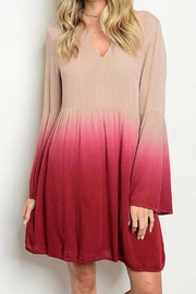 Entro Dip-Dye Bell Sleeve - Front cropped