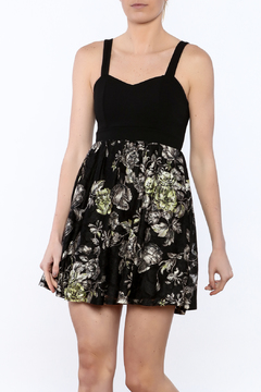 Shoptiques Product: Black Floral Lace Dress