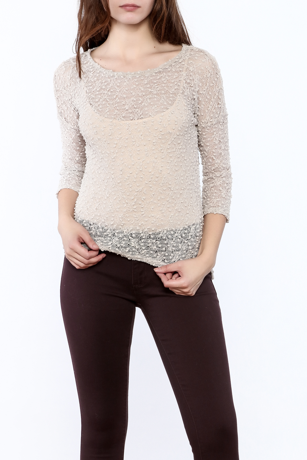 Rousseau Gritty Beige Top - Main Image