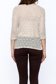 Rousseau Gritty Beige Top - Back cropped