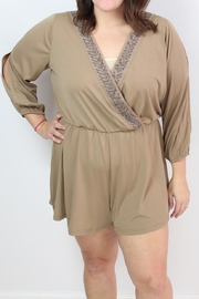 Rousseau Make Mocha Romper - Product Mini Image