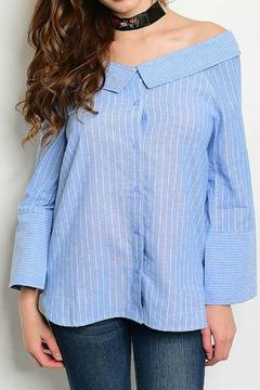 Shoptiques Product: Off Shoulder Button Down Top